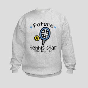 Tennis Star - Dad Kids Sweatshirt