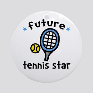 Future Tennis Star Ornament (Round)