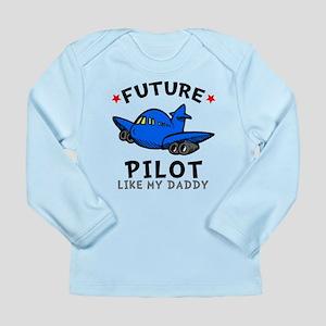 Pilot Like Daddy Long Sleeve Infant T-Shirt