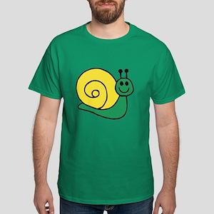 Green Snail Dark T-Shirt