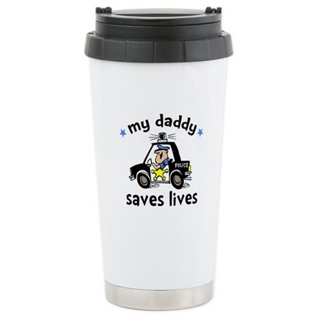 Police Saves Lives Stainless Steel Travel Mug