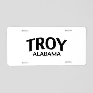 Troy Alabama Aluminum License Plate