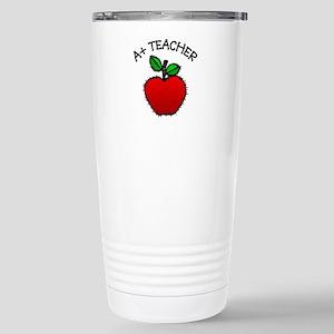 A+ Teacher Stainless Steel Travel Mug
