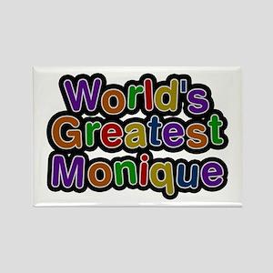 World's Greatest Monique Rectangle Magnet