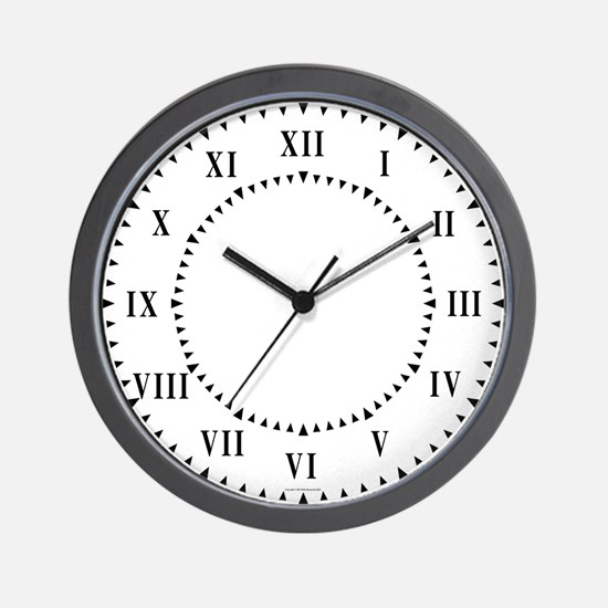 Roman Numerals And Wedges Wall Clock