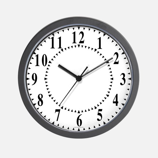 Traditional Wedges Wall Clock
