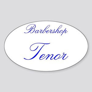 Barbershop Tenor Oval Sticker