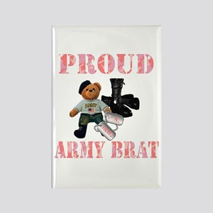 Army Brat (Girl Rectangle Magnet