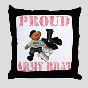 Army Brat (Girl Throw Pillow