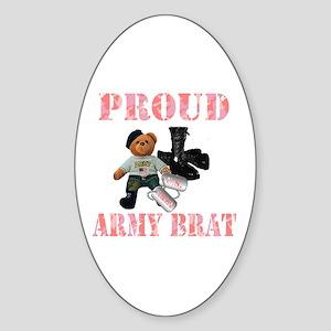 Army Brat (Girl Oval Sticker