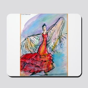 Falmenco dancer, bright Mousepad