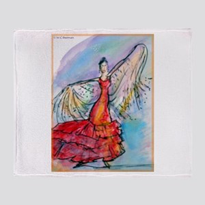 Falmenco dancer, bright Throw Blanket