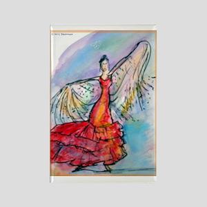 Falmenco dancer, bright Rectangle Magnet