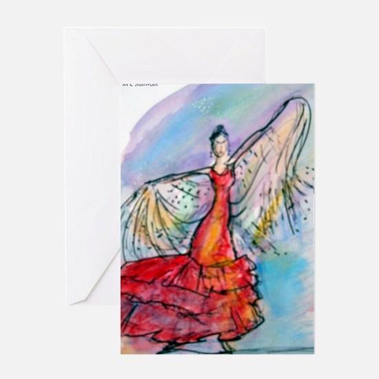 Falmenco dancer, bright Greeting Card