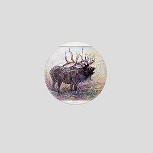 Elk, colorful, Mini Button