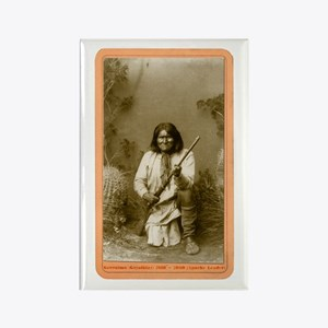 Geronimo - Apache Leader Rectangle Magnet (100 pac