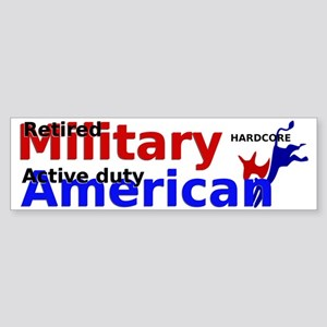 Active duty American Bumper Sticker