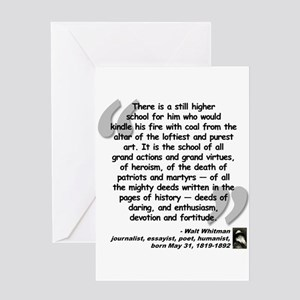 Whitman School Quote Greeting Card
