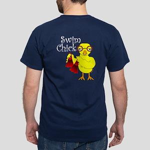 Swim Chick Text Dark T-Shirt