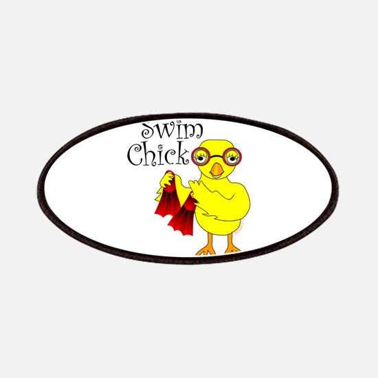 Swim Chick Text Patches