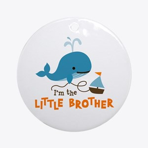 Little Brother - Mod Whale Ornament (Round)