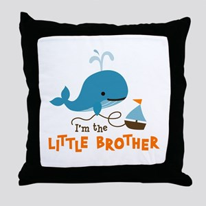Little Brother - Mod Whale Throw Pillow