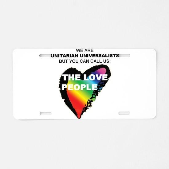 Unique Unitarian Aluminum License Plate