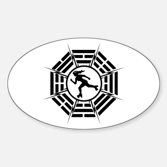 DHARMA DERBY GIRL Sticker (Oval)