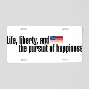 life iberty Aluminum License Plate