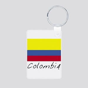 Colombia (Flag, World) Aluminum Photo Keychain