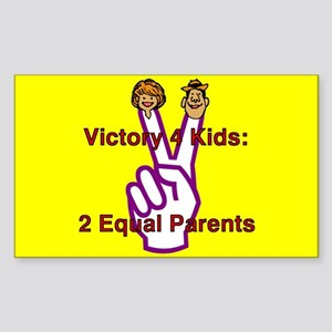 Victory 4 Kids Rectangle Sticker