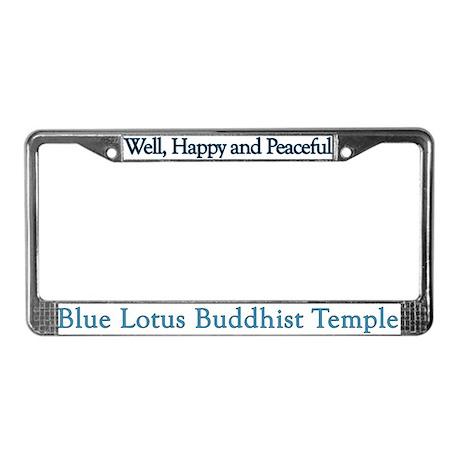Blue Lotus License Plate Frame