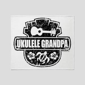 Ukulele Grandpa Throw Blanket