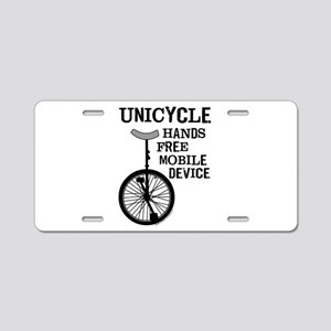 Mobile Device Bold Aluminum License Plate