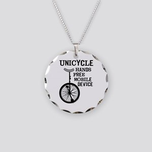 Mobile Device Bold Necklace Circle Charm