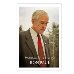 Ron Paul Honesty Postcards (Package of 8)