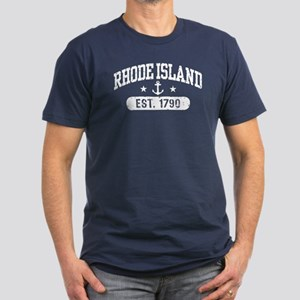 Rhode Island Men's Fitted T-Shirt (dark)