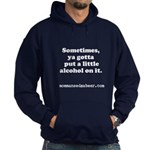Momma Needs a Beer Hoodie (dark)