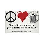 Peace, Love & Beer Magnet