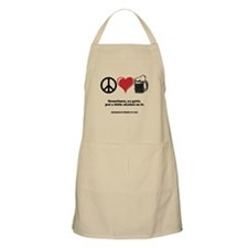 Peace, Love & Beer Apron