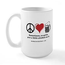 Peace, Love & Beer Mug
