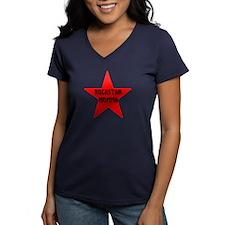 Rockstar Momma V-Neck Black T-Shirt