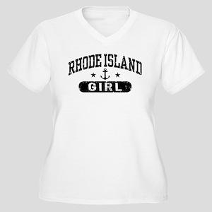 Rhode Island Girl Women's Plus Size V-Neck T-Shirt