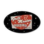Grill Master Retro 22x14 Oval Wall Peel