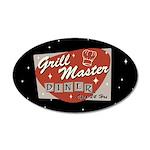 Grill Master Retro 38.5 x 24.5 Oval Wall Peel