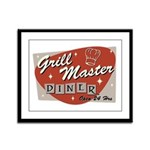 Grill Master Retro Framed Panel Print