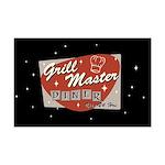 Grill Master Retro Mini Poster Print