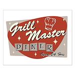 Grill Master Retro Small Poster