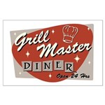 Grill Master Retro Large Poster