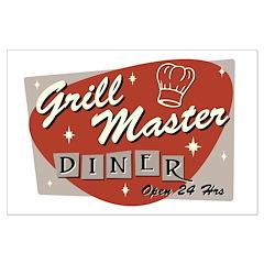 Grill Master Retro Posters